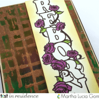 Metallic Emboss Resist with Delicata
