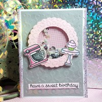 Cupcake Shaker Birthday Card