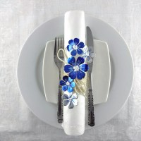 See How to Make Illustrious Lapis Blue Napkin Rings