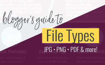A Blogger's Guide to File Types (Learn what you need and when, in simple terms)