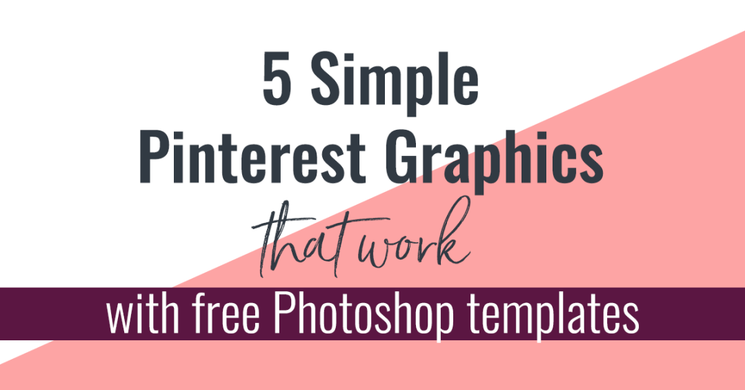 Spending too long making Pinterest graphics? They don't have to be hard! Get ideas for simple Pinterest graphics that will save you time. Ooh, and I'm giving away free templates!