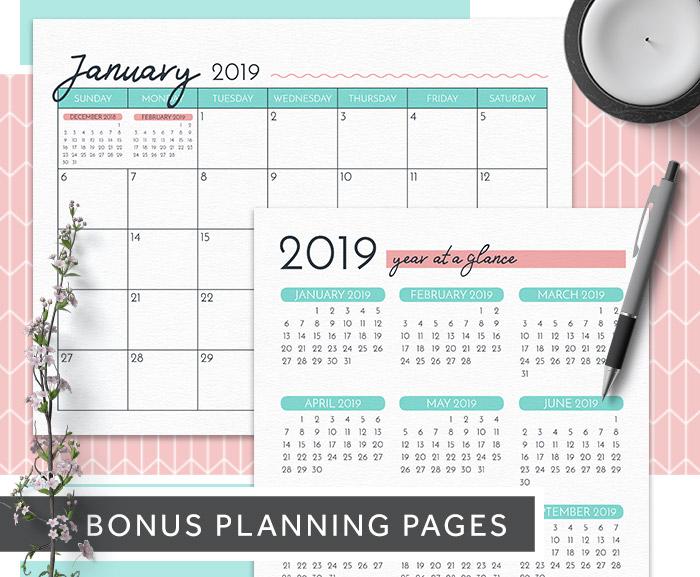 Free Printable 2019 Calendar • Imagine Design Repeat