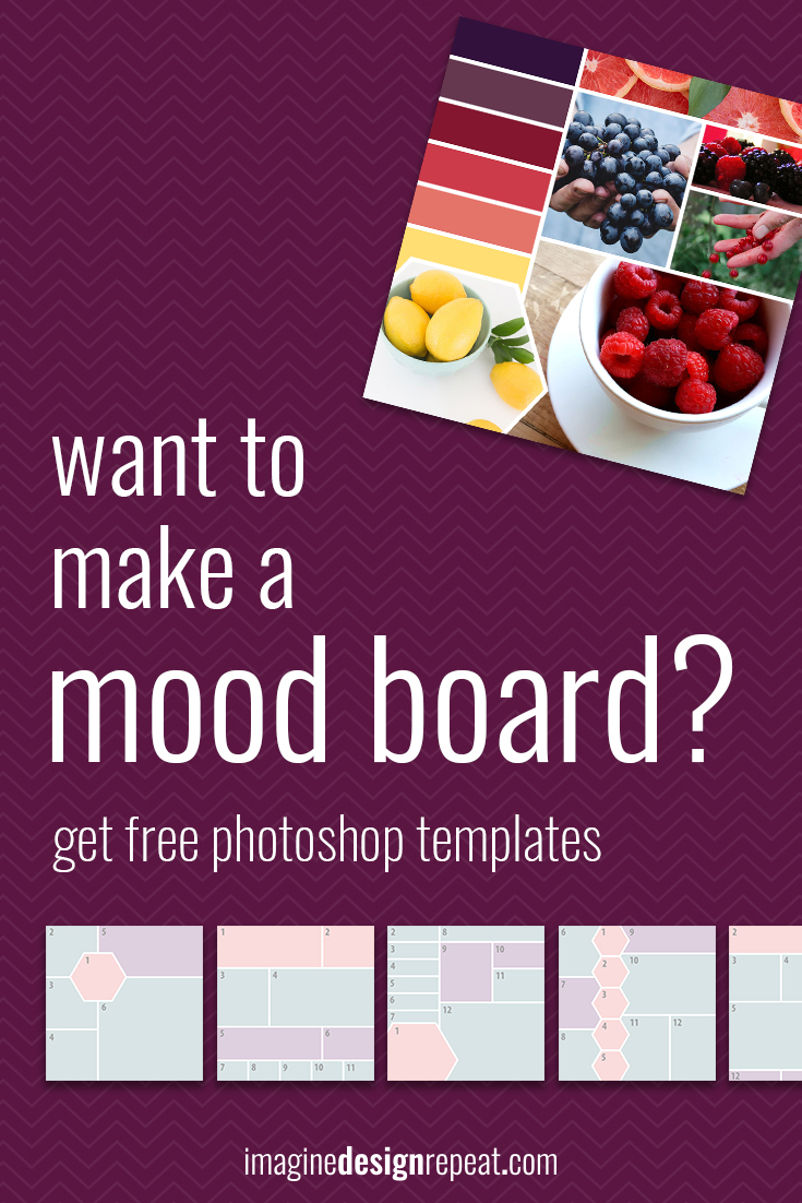 Make a Mood Board in Minutes + FREE Photoshop Templates