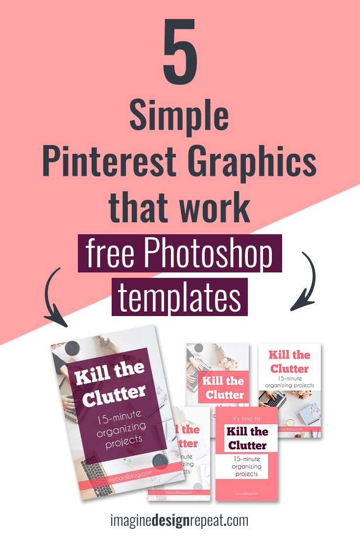 Simple Pinterest Graphics with Photoshop Templates