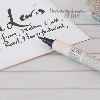Double Sided Calligraphy Pen In Metallic Black Imagine Diy