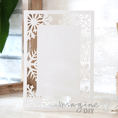 snowflake white invitation imagine diy With blank snowflake wedding invitations