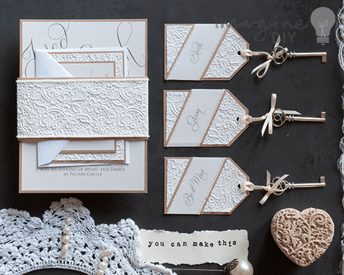How To Make Lace Embossed Stationery
