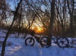To have comprehensive bike trails, both single track trails as well as paved bike paths, to support the already avid cyclist community here and attract more people to come visit Dubuque for cycling. The picture provided is from a snow ride this winter on our local trails.