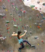 I want to climb like this awesome woman! And I want climbing to be open and accessible to all ages.