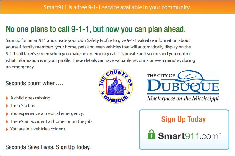 Smart 911 graphic