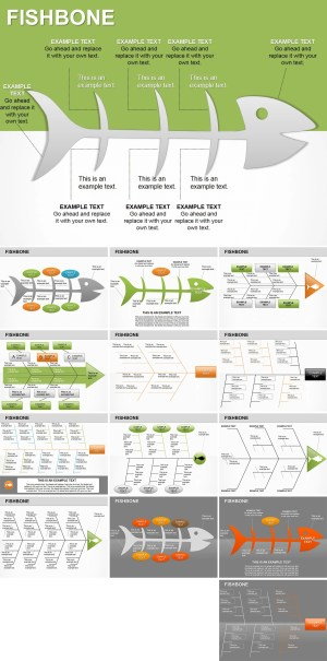 Fishbone PowerPoint diagrams | ImagineLayout