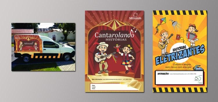 design gráfico dos projetos culturais da faBrincando Produções