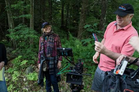 Karen Allen working with DP Richard Sands