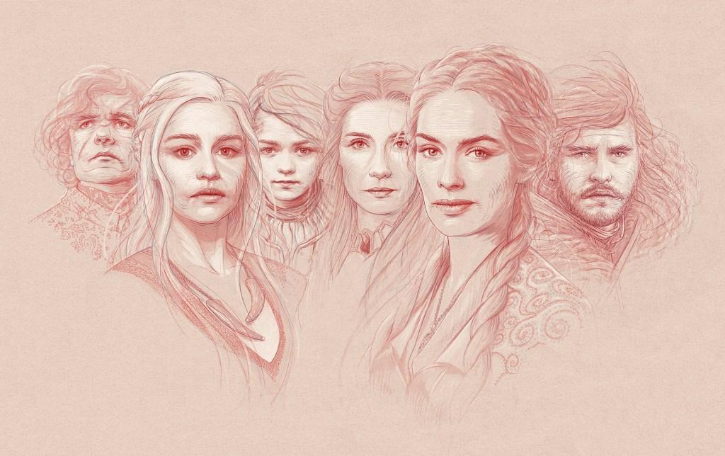 Game of Thrones portraits created before the new season premiere