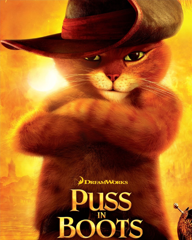 Puss in Boots character by Chris Aguirre for DreamWorks Studios