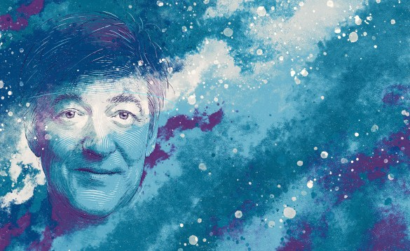 portrait of Stephen Fry for Apple's Today Tab