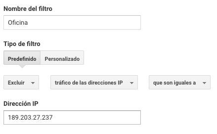 excluir mi direccion ip de google analytics