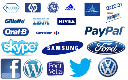 Logotipos en Azul