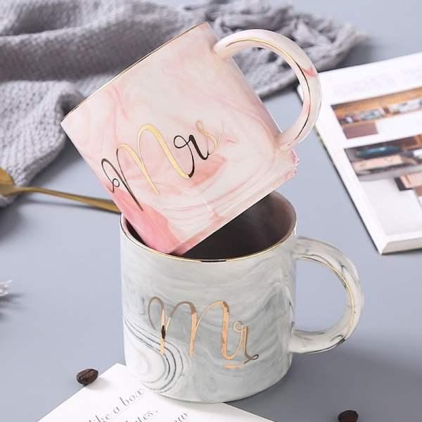 Mr & Mrs Mug Set with Lid & Spoon/Gift Set