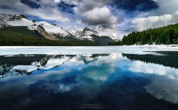 Maligne Lake in Alberta, Canada. Shot in May 2014.
