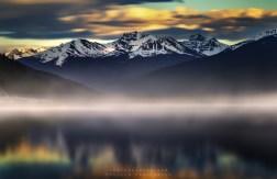 Moose Lake in Alberta, Canada.