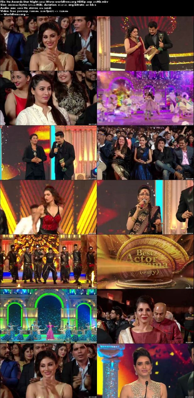 Resumeable Single Free Download Links For ITA Awards Star Night 4th December 2016 Full Show 275Mb 480p Watch Online Free at worldfree4.org