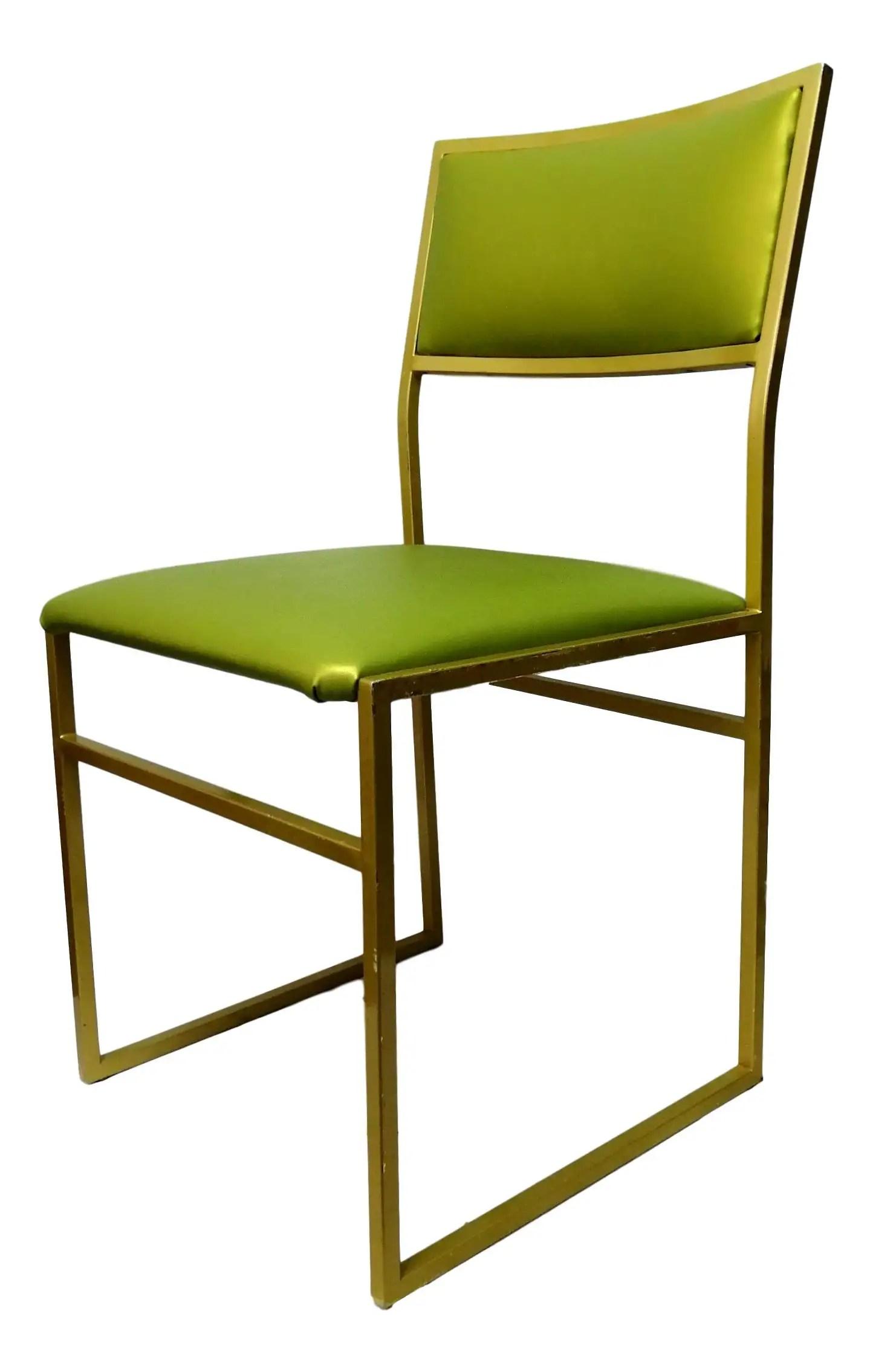 Set di 4 sedie di design romeo rega roma, con struttura in metallo cromato e tessuto scamosciato, in ottime condizioni, la tappezzeria è stata rifatta con stoffa identica come colore e materiale all'originale. Sedia Da Collezione Di Design Originale Anni 70 Vintage Esemplare Verde Ebay