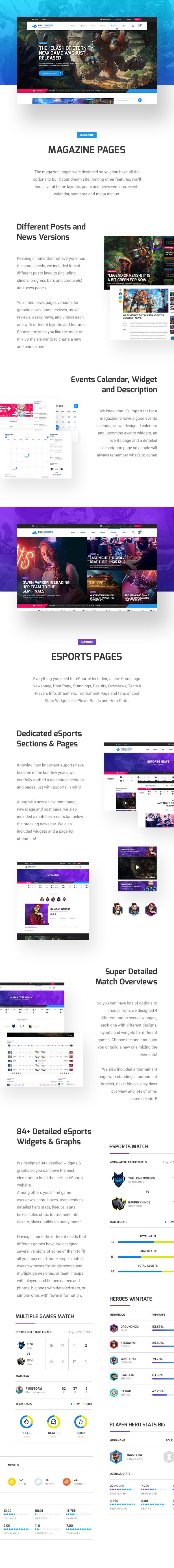 Pixel Diamond - HTML eSports & Gaming Magazine & Community - 10