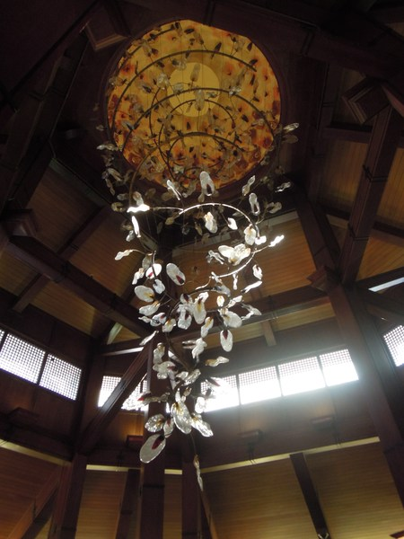 Intricate chandelier