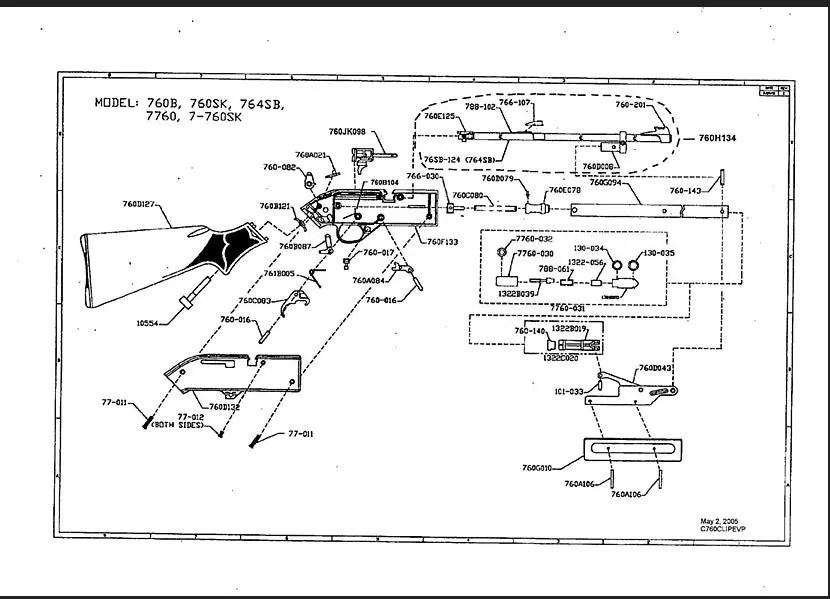 Crosman Air Rifle Parts Diagram