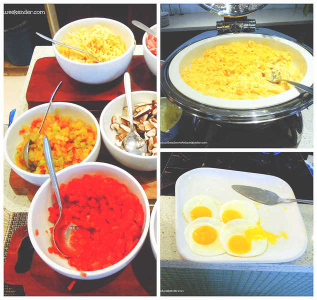 Eggs and omelet station