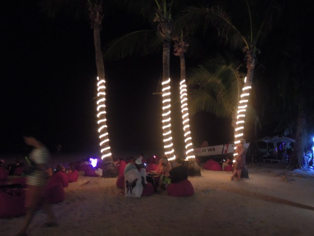 A typical night in Boracay