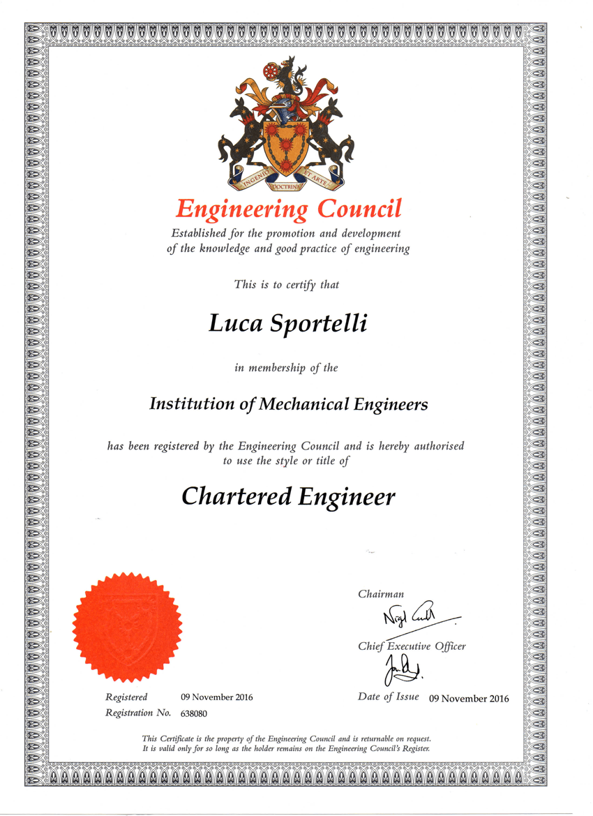 engineer chartered ceng engineers certificate 7th february consultant thermal