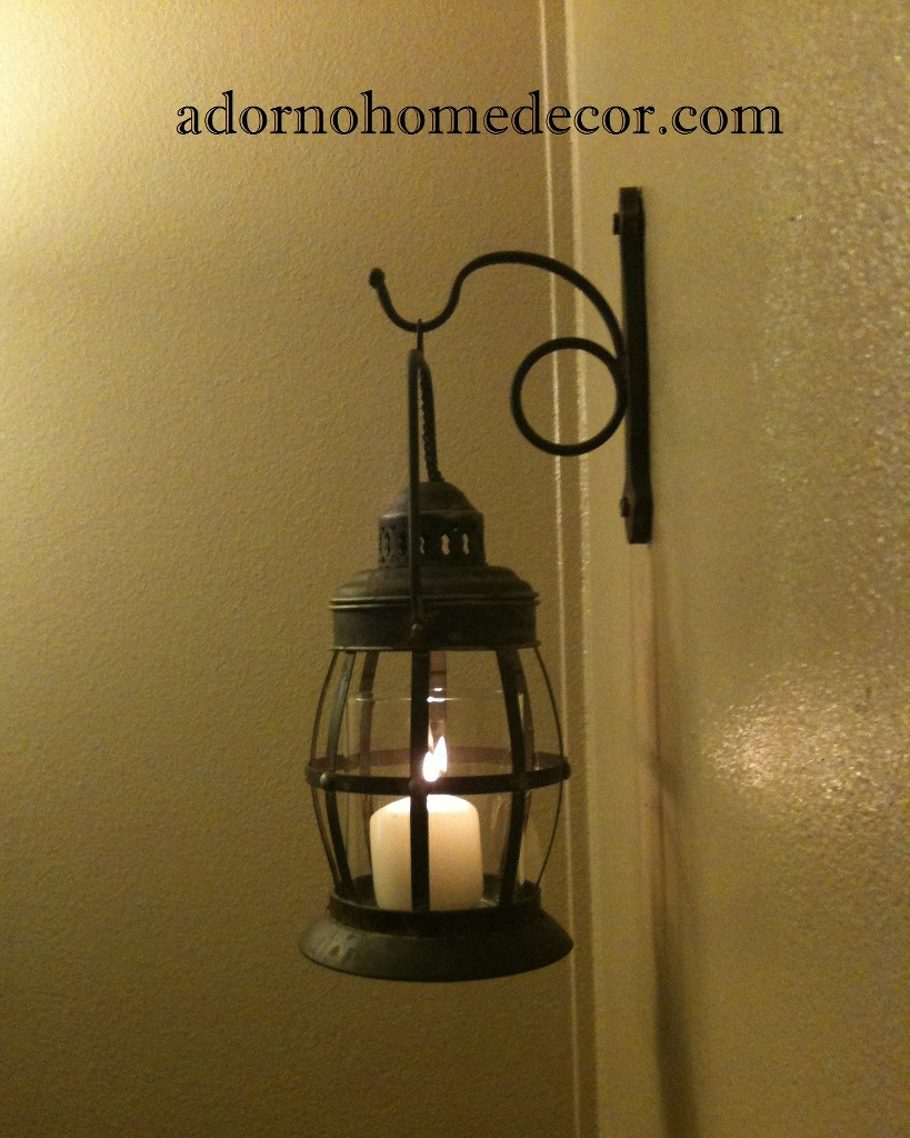 Metal Lantern Wall Sconce Rustic Industrial Antique ... on Rustic Wall Sconces id=21373