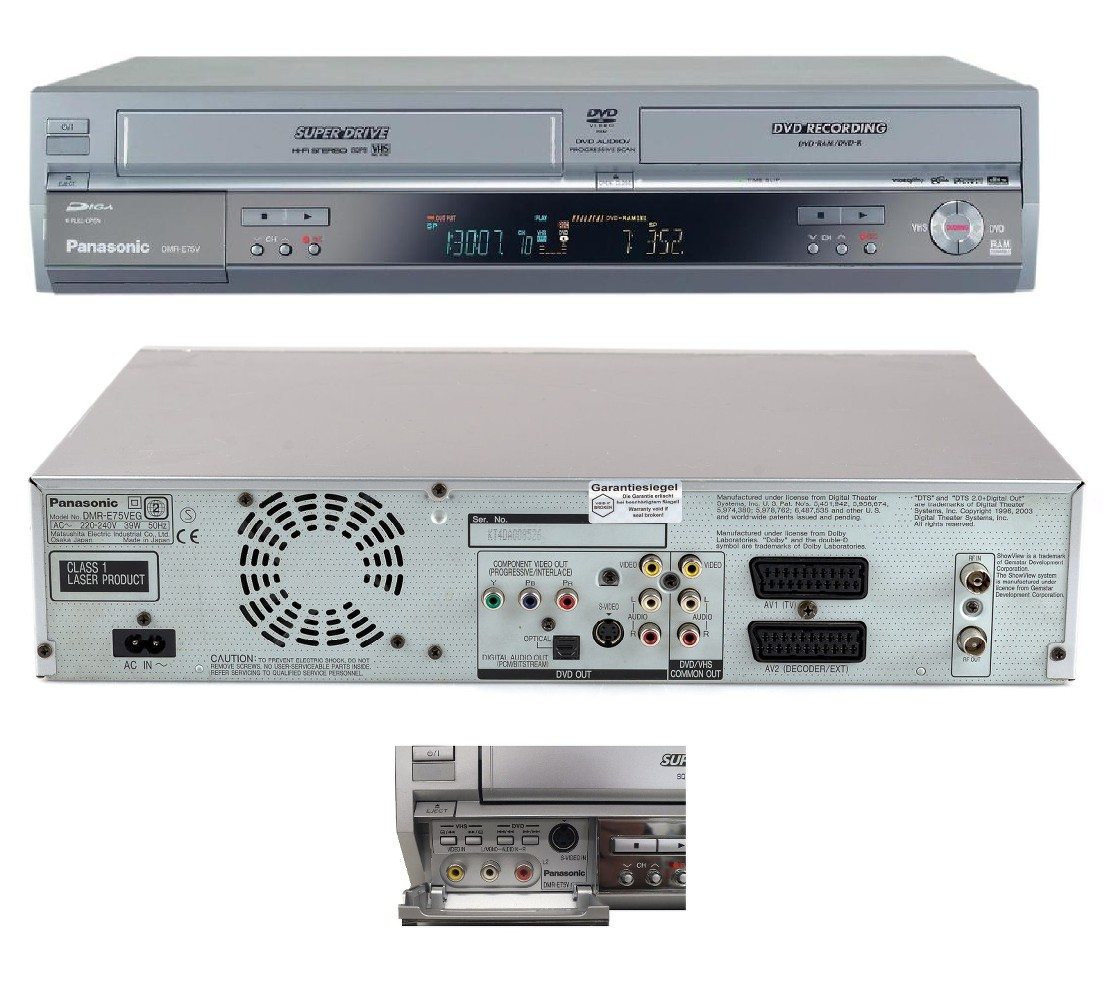 Converter Vhs Machine Tape Dvd