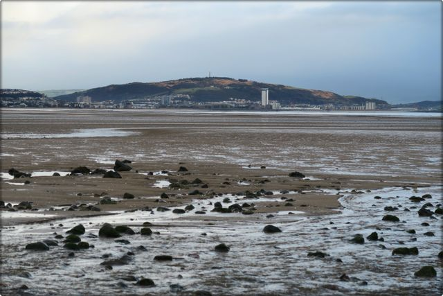 Looking towards Swansea City Center