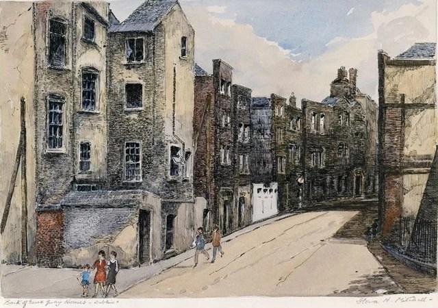 Flora Mitchell's depiction of Exchange Street