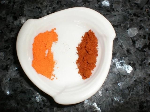 Colorante y pimentón dulce