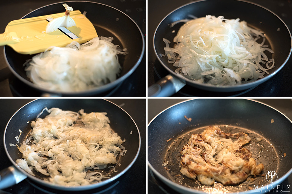 Step by step pictures of how to caramelize onions