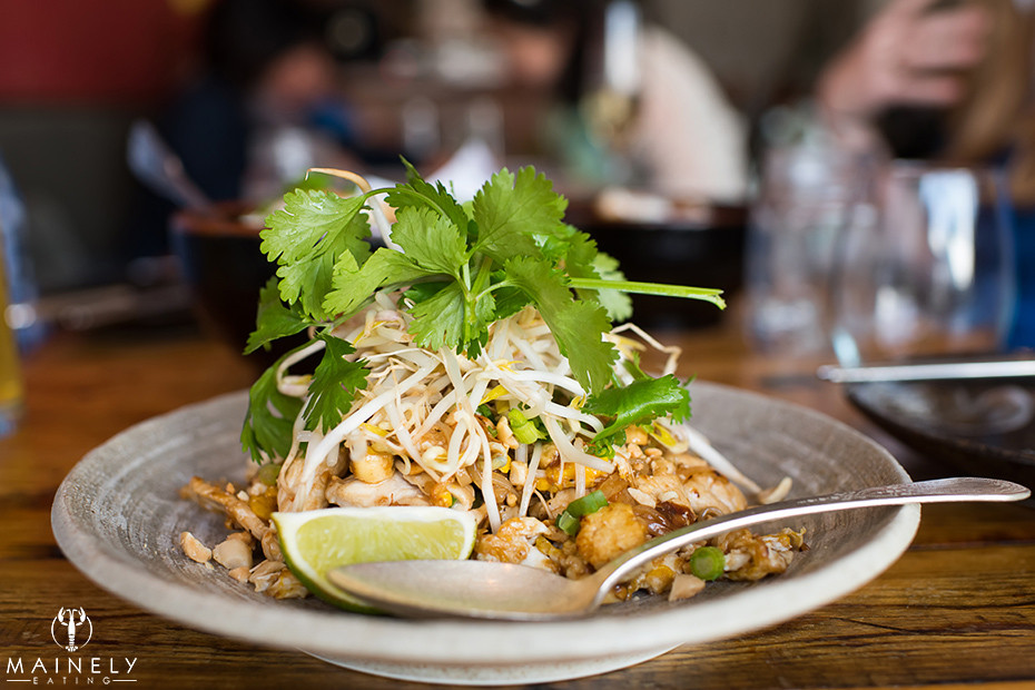 Perfect Pad Thai at Long Grain in Camden Maine by MainelyEating.com