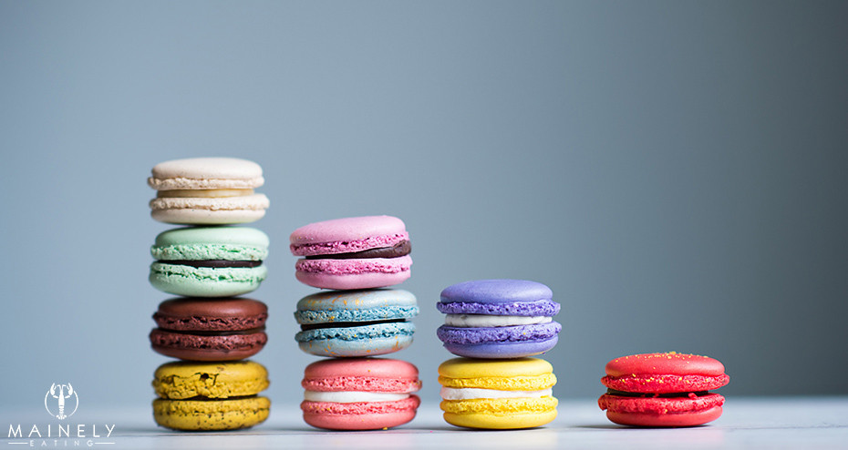 A colorful selection of macarons from Bottega Louie
