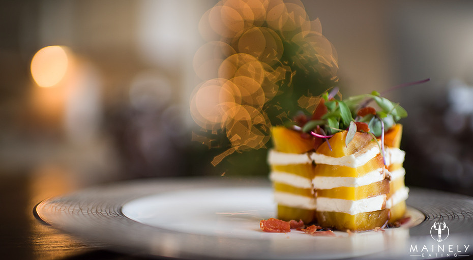 Elegant oven-roast beet and goat cheese tower