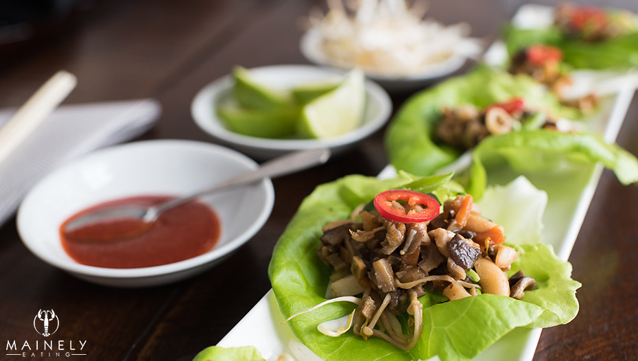 Vegetarian lettuce wrap recipe in the style of PF Changs