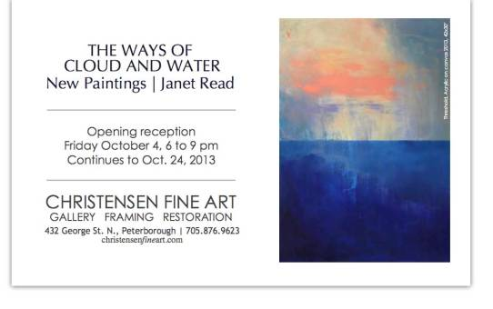 The Ways of Cloud and Water by Janet Read