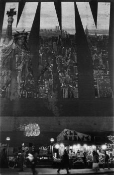 Mural en el cruce de Bradway con Bleaker, todavia las torres gemelas