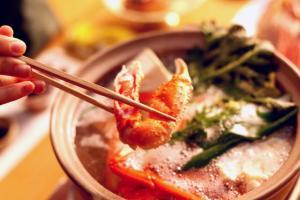 松葉がにのカニすき鍋の写真