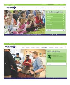 Meriden School District Website Sub Pages