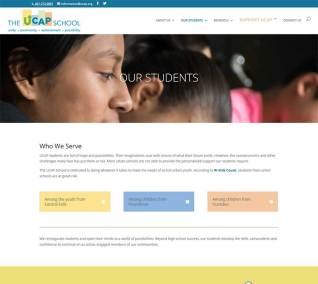 "Image of the UCAP School web page called ""Our Students"""