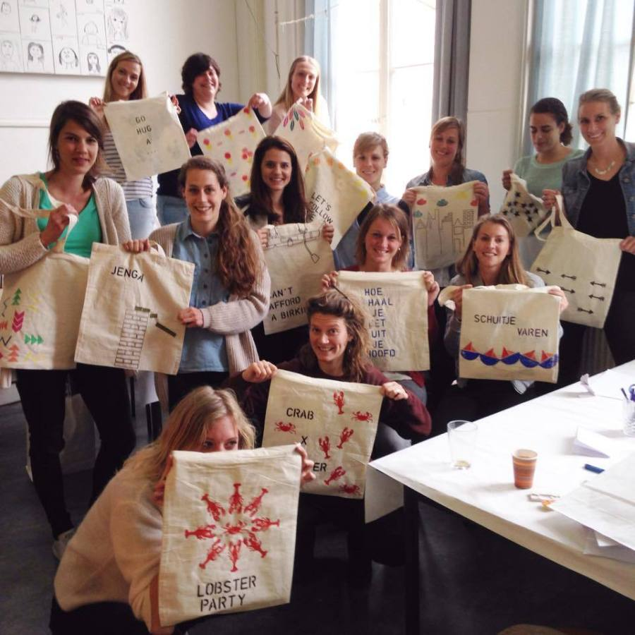 canvas tas - vrijgezellenfeest   #deeljeDIY @imakinNL
