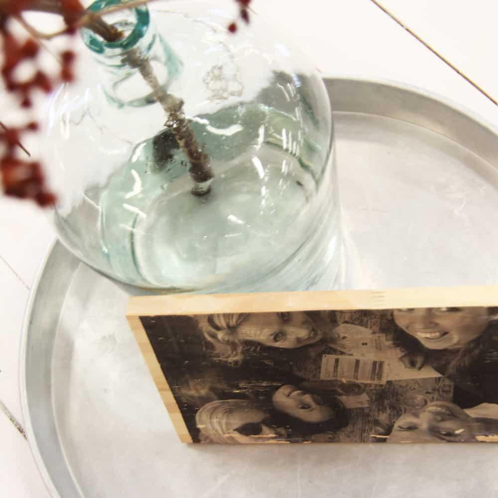 DIY foto op hout | IMAKIN